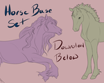 Adult and Foal Horse Base Set (fixed price) by Whitelupine