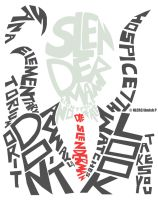 Slenderman Typography by NLCR3