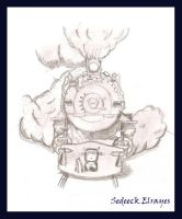 train with steam by Sedeeck