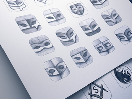 iOS 7 App Icon Sketching by Ramotion