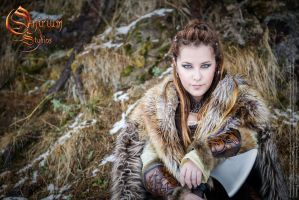 Viking inspired female set - photoshoot 2017 by Deakath