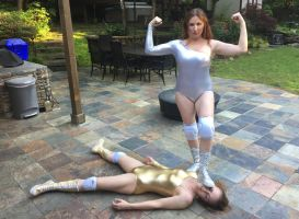 SHAUNA vs ANNE-MARIE: Foot on Face! by sleeperkid