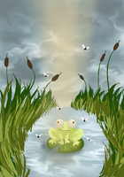 Art Challenge Day #2 Frog by TimecatConti