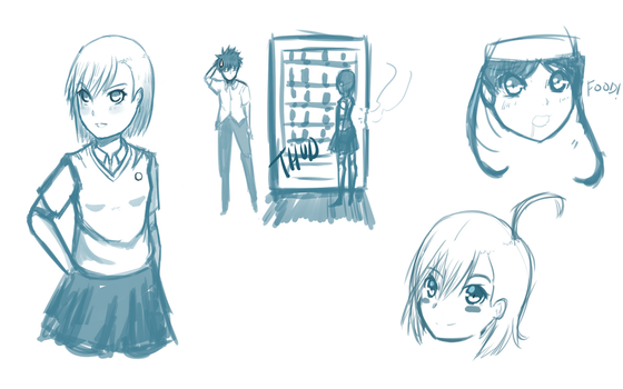 A Certain Casual Sketch Page (3/22/2016) by lonelyonafriday