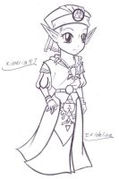 OoT Princess Zelda- lines by Kimeria87