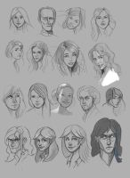 Face Sketches by Pseudolonewolf