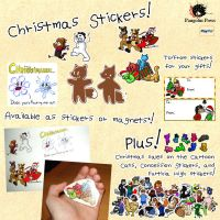 Christmas Stickers by SonOfNothing