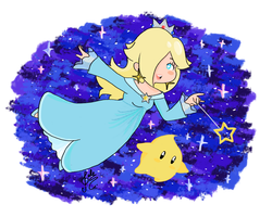 Rosalina and Luma by Valeelalala