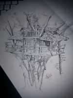 Rustic Treehouse by Tebius
