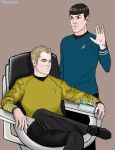 Captain J.T.Kirk and Commander Spock by EphemeralKing