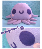 Octo-Pillow Glub Glub by Mazzlebee