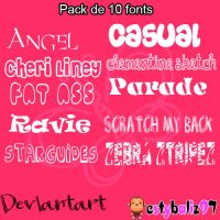 Pack de 10 fonts by noviadelamuerte