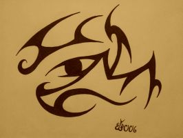 Tribal Eye by blackbutterfly006