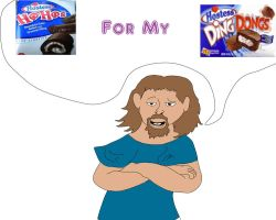 Larry loves Hostess Cakes by Lady-ALTernate