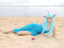 Vaporeon Gijinka Cosplay by usagiyuu