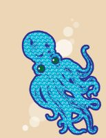 Octopus Illustration by pinapplepony