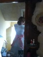 Fionna Ball Gown WIP No. 7 back of dress by MishaCosplay