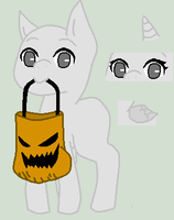 Trick or Treating Filly Base by ponyboogers