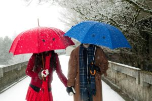 Snow Umbrellas by TheRiverStudio