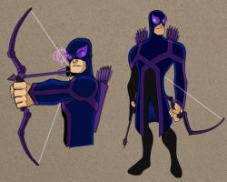 Hawkeye redesign by payno0
