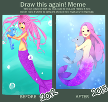 Mermaid // Before and After by Nyugu
