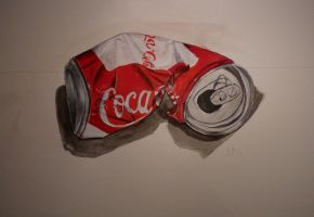 Coke can by Nordgrot