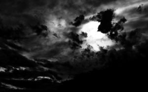 Dark night sky by bushma