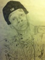 Drawing of Wiz Khalifa pt.1 by MarcusHECANDRAWBoggs