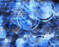 Abstract Blue Wallpaper by Finalrobo101