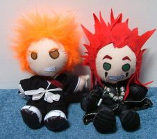 Axel and Ichigo plush by Plushie-Pandemonium