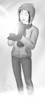 Grayscale Winter by totallyunmotivated