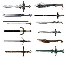Lore of Steel - Swords by pixieface