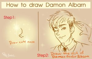 How to draw Damon by FrAlichen