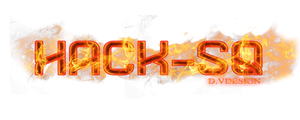 hack-sq TexT fire by DVDESIGN1