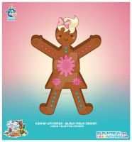 Kawaii Gingerbread Cookie Girl by KawaiiUniverseStudio