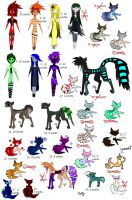 Unsold adoptables sale EXTREMELY LOW PRICES OPEN by AdoptfromT