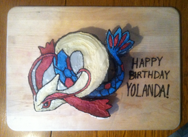Milotic Pokemon Cake by Yolandaaaaa