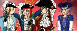 Piratalia Francis, Marie, Arthur and Calixte by GueparddeFeu
