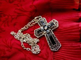 Gothic cross stock by AnnFrost-stock