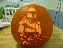 Crusader: No Remorse Pumpkin 2 by ceemdee