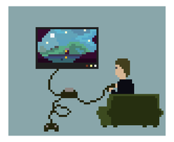Gamer Pixel Art by artbetep