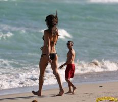 Alessandra Ambrosio beach walk by lowerrider