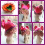Rainbow Animal hat by Catzilerella