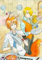 Two cooks in a kitchen by Kutty-Sark