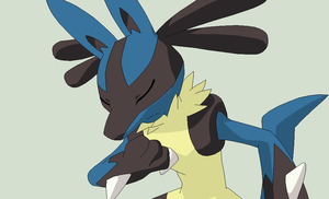 Pokemon Base 58~Lucario 1~ by Xbox-DS-Gameboy