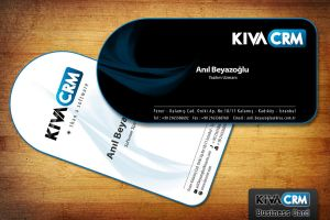 Kiva Crm Business Card Design by cmgllp