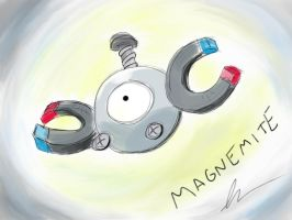 Floating Magnemite by tuxman20