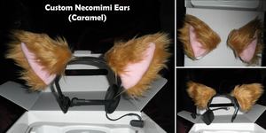 Custom Necomimi Ears [Caramel] by TentacleLoveGoddess