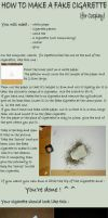 How to Make a Fake Cigarette - Tutorial by RinaTenshi
