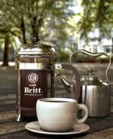 3D French Press and coffee 03 by otas32